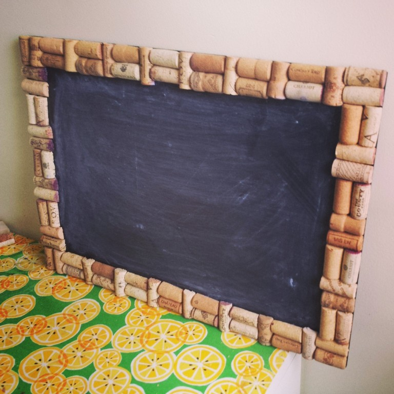 Wine Cork Framed Chalkboard